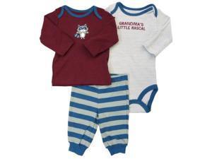 Carter's Infant Boys Grandma's Little Rascal Creeper Racoon Shirt & Pants Set