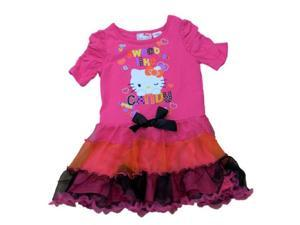 Sanrio Toddler Girls Pink Tulle Hello Kitty Halloween Dress Sweet Like Candy