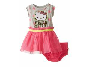 Hello Kitty Infant Girls Gray & Pink Tulle Dress Outfit 2 Piece Set