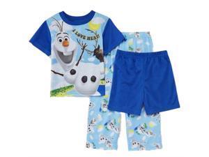 Disney Frozen Toddler Boys 3 Piece Olaf & Sven Pajama Sleepwear Set