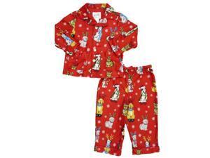 Nick & Nora Infant & Toddler Boys Christmas Dog Flannel Pajama Sleepwear Set
