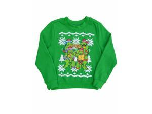 Nickelodeon Toddler Boys Green Teenage Mutant Ninja Turtles Holiday Sweatshirt