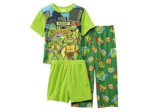 Teenage Mutant Ninja Turtles Toddler Boys 3 Piece Pizza Pajama Sleepwear Set 2T