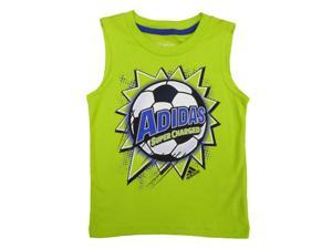 Adidas Toddler & Little Boys Green Super Charged Sleeveless Athletic Shirt