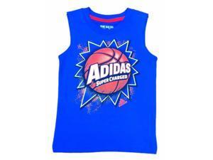 Adidas Toddler & Little Boys Blue Super Charged Sleeveless Athletic Shirt