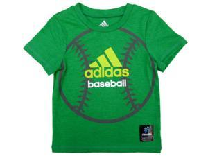 Adidas Toddler Boys Green Adidas Baseball Athletic T-Shirt