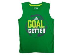 Adidas Boys Green Goal Getter Sleeveless Athletic Shirt 6