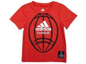 Adidas Toddler Boys Red Adidas Football Athletic T-Shirt