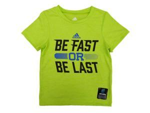 Adidas Toddler Boys Green Be Fast Or Be Last Athletic T-Shirt