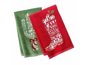 St Nicholas Square Cowboy Christmas Kitchen Towel Set Boot & Cactus