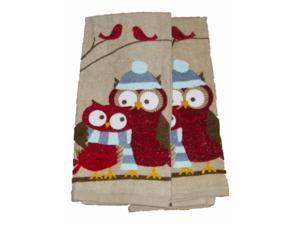 Celebrate The Season Hoot Owl Kitchen Towel Set Darling Owls