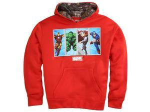 Marvel Boys Red Avengers Pullover Hoodie Realtree Sweatshirt