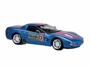 Marvel Captain America Corvette Metal Diecast Car 1:27