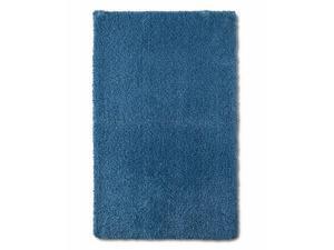 Fieldcrest Plush Kettle Blue Luxury Bath Rug Skid Resist Throw Mat 24x38