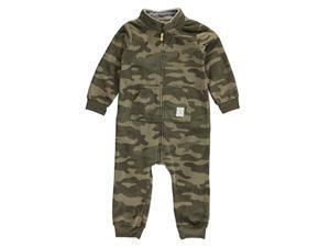 Carters Infant Boys Green Camo Fleece Jumpsuit Coverall Outfit