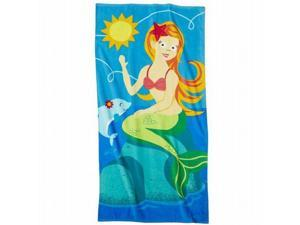 Celebrate Pretty Mermaid Cotton Beach Towel 30x60