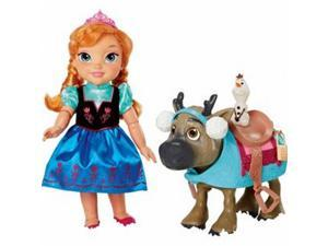 Disney Frozen Toddler Anna Doll & Sven with Mini Olaf