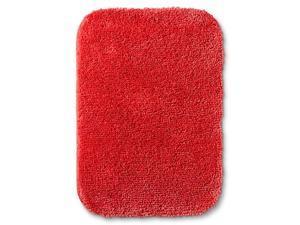Room Essentials Lollipop Red Skid Resistant Throw Bath Rug Accent Mat 20x34