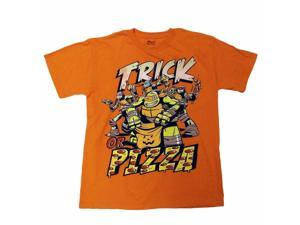 Teenage Mutant Ninja Turtles Boys Orange Trick Or Pizza Halloween T-Shirt