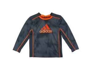 Adidas Little Boys Gray & Orange Climalite Long Sleeve Athletic T-Shirt 4