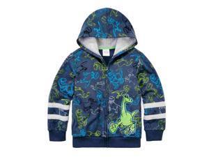 Disney Boys Gray The Good Dinosaur Zip Front Hoodie Arlo Sweatshirt