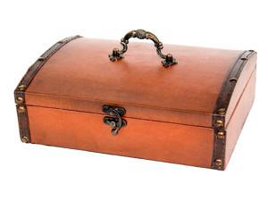 Small Vintage Style Leather Treasure Chest