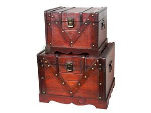 Old Style Treasure Chest Set of 2