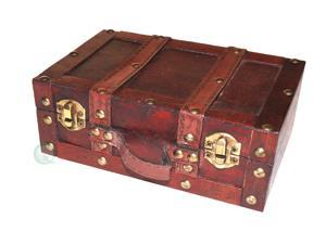 Old-Fashioned Small Suitcase/Decorative Box with Straps