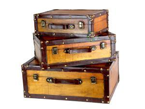 Old Vintage Suitcase Set of 3
