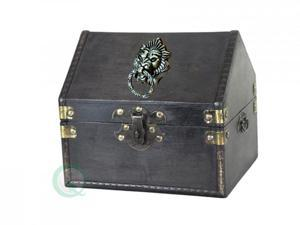 Small Pirate Chest with Lion Ring