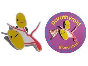Parathyroid Lapel Pin Gland Slam I Heart Guts