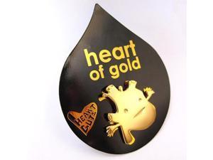 Heart Of Gold Lapel Pin Feel The Beat I Heart Guts