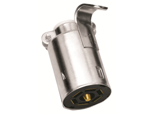 Tow Ready 118031 7-Way Flat Pin Connector, Trailer End, Metal, 4.80 x 1.90 x 7.88 in.