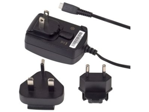 OEM Verizon BlackBerry Micro USB Travel Charger with Global / International Adapter Clips ASY-18080-001 ASY-18080-003 RI