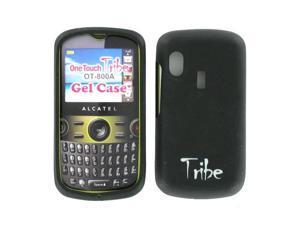 Alcatel One Touch Tribe OT-800A Silicon Gel Skin Case BLK800AGEL (Black)
