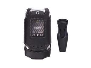Black Swivel Leather Case for Motorola VE20 Vegas