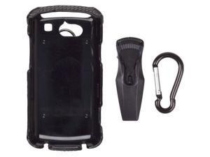 Wireless Solutions Leather Clip-On Case for UTStarcom Quickfire GTX75 - Black