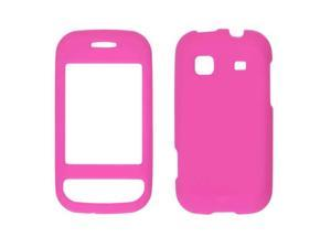 Two piece Soft Touch Snap-On Case for Samsung Trender SPH-M380 (Hot Pink)