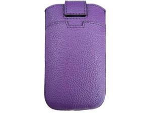 Tribeca - Universal Tribeca Leather Pouch Credit Card Holder for Apple iPhone - Purple