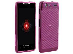 OEM Verizon High Gloss Silicone Cover Case for Motorola DROID RAZR XT912 (Pink) (Bulk Packaging)