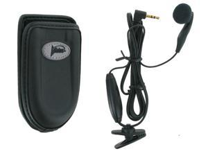 nTelos Universal Mini Pouch with Clip & 2.5mm Earbud Combo Kit - Black