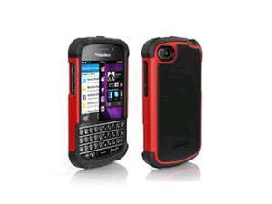Ballistic Shell Gel Case for Blackberry Q10 - Black/Red