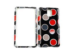 Cell Armor Snap-On Protector Case for Samsung Infuse I997 - New Polka Dots on Black
