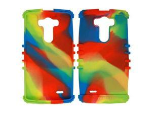Cell Armor - Rocker Series Skin Protector Case for LG G3, D850, D855, D851, VS985, 990 - Rainbow