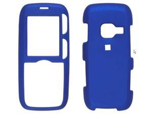 Two piece Soft Touch Snap-On Case for LG LX260 Rumor - Dark Blue
