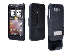 Verizon - Shell Holster Combo for HTC Thunderbolt ADR6400 - Black
