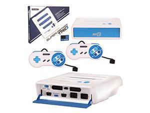 Retro-Bit - Super RetroTRIO Console 3 in 1 System for NES/SNES/Genesis - White/Blue