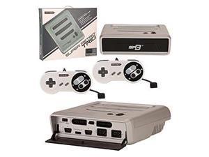 Retro-Bit - Super RetroTRIO Console 3 in 1 System for NES/SNES/Genesis - Silver/Black