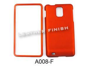 Snap-On Protector Case for Samsung Infuse 4G I997 (Honey Burn Orange/Leather Finish)