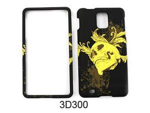 Snap-On Protector Case for Samsung Infuse 4G I997 (3D Embossed/Yellow Skull)